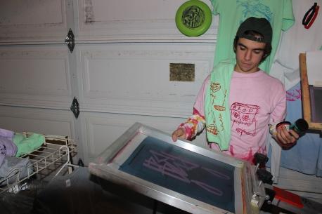 Senior Conrad Walas has sold upwards of 75 shirts he designed. [Rafael Arroyo]