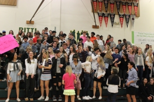 The crowd at the boys game. [Jenna Clark]