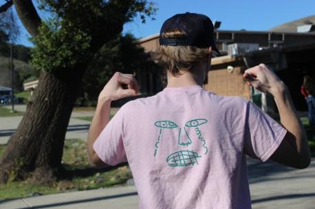Senior Luke Gavin wears a season one B.K.O.D shirt. [Rafael Arroyo]